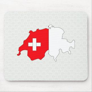 Switzerland Flag Map full size Mousepad