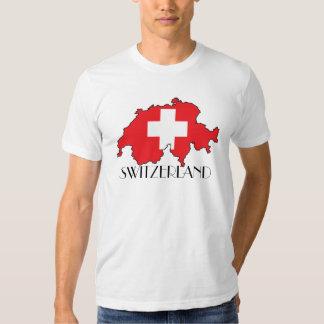 Switzerland Flag-Map Shirt
