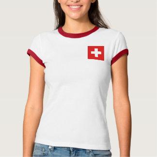 Switzerland Flag + Map T-Shirt