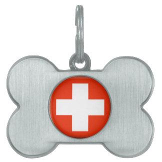 Switzerland Flag Pet ID Tag