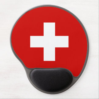 Switzerland flag quality gel mouse mat