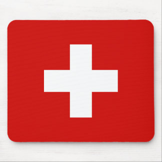 Switzerland flag quality mouse mat