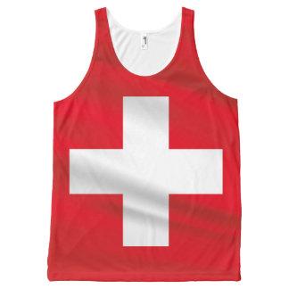 Switzerland Flag Red Tank Top Unisex