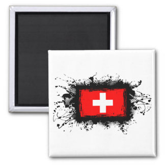 Switzerland Flag Square Magnet