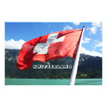 Switzerland flag stationery paper