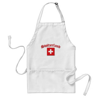 Switzerland Flag (w/inscription) Standard Apron
