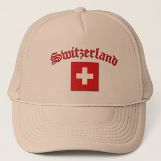 Switzerland Flag (w/inscription) Trucker Hat