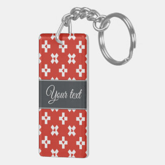 Switzerland Flag with  Heart pattern Key Ring