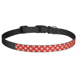 Switzerland Flag with  Heart pattern Pet Collar