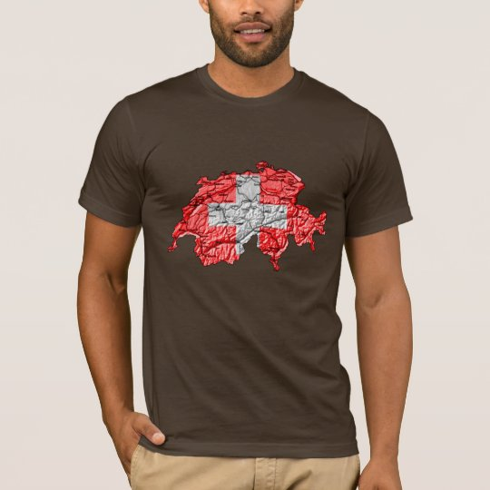 Switzerland Flagcolor Map T-Shirt