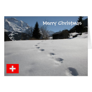 Switzerland, Footprints in the snow Card