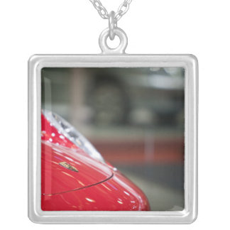 SWITZERLAND, GENEVA: 75th Annual Geneva Auto 2 Silver Plated Necklace