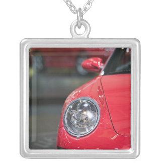 SWITZERLAND, GENEVA: 75th Annual Geneva Auto 8 Silver Plated Necklace