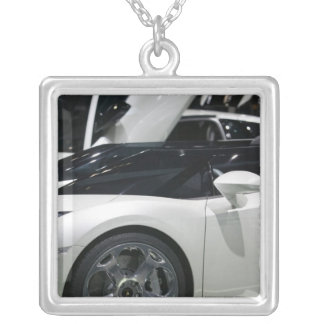 SWITZERLAND, GENEVA: 75th Annual Geneva Auto 9 Silver Plated Necklace