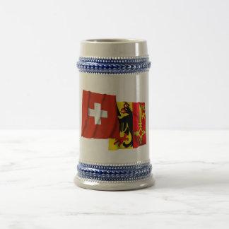 Switzerland Geneva Waving Flags Coffee Mug