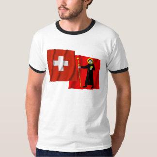 Switzerland & Glarus Waving Flags T-Shirt