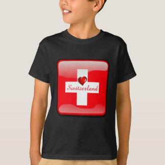 Switzerland glossy flag T-Shirt