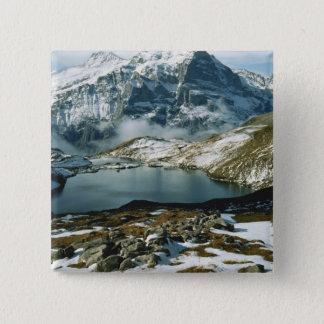 Switzerland, Grindelwald, Bernese Alps, View 15 Cm Square Badge