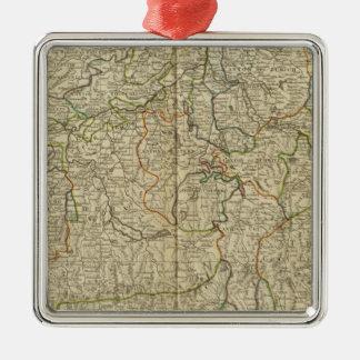 Switzerland Hand colored Atlas map Christmas Ornament