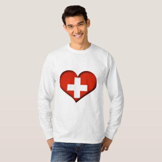 Switzerland Heart Flag T-Shirt