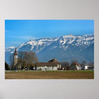 Switzerland Interlaken, Church,High School Poster