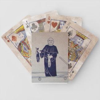 Switzerland, Interlaken mural, monk fishing Bicycle Playing Cards