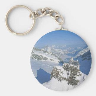 Switzerland, Jungfraujoch, top of Europe Basic Round Button Key Ring
