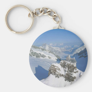Switzerland, Jungfraujoch, top of Europe Key Ring