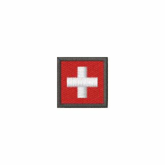 Switzerland Ladies Long Sleeve Tee With Swiss Flag
