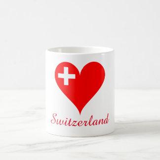 Switzerland love heart coffee mug