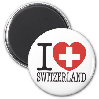 Switzerland Love v2 6 Cm Round Magnet