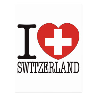 Switzerland Love v2 Postcard