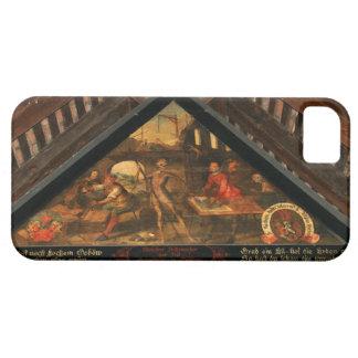 Switzerland, Lucerne bridge historic painting iPhone 5 Cases