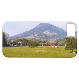 Switzerland, Lucerne pasture and village iPhone 5 Cover
