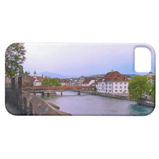 Switzerland, Lucerne river and bridge Case For The iPhone 5