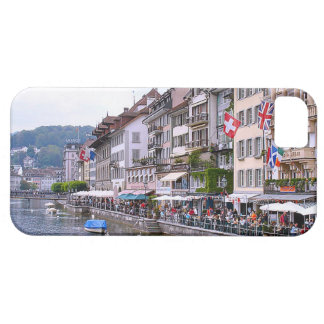 Switzerland, Lucerne River front terraces Barely There iPhone 5 Case
