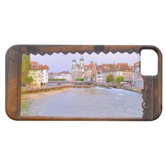 Switzerland, Lucerne through the bridge iPhone 5 Cases
