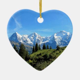 Switzerland Majestic Beautiful Mountains Christmas Ornament