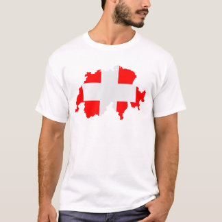 Switzerland Map and Flag T-Shirt