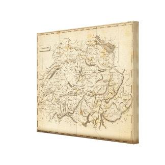 Switzerland Map by Arrowsmith Canvas Print