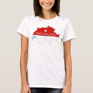 Switzerland Map Designer Shirt Apparel Him or Hers