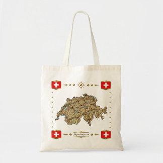 Switzerland Map + Flags Bag
