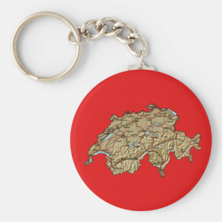 Switzerland Map Keychain