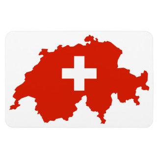 SWITZERLAND MAP RECTANGULAR MAGNET