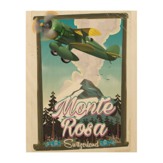 Switzerland Monta Rosa Travel poster