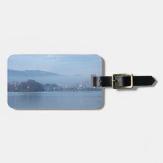 Switzerland mountains luggage tag