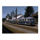 Switzerland, OBB motor train set, 1973 Post Card
