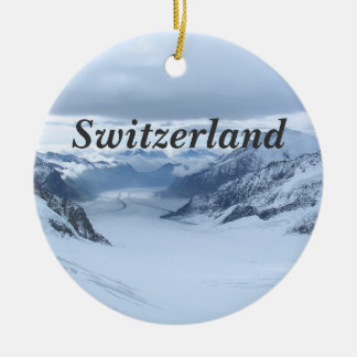 Switzerland Round Ceramic Decoration