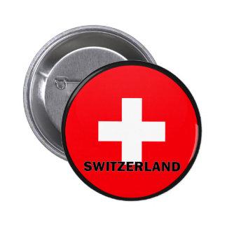 Switzerland Roundel quality Flag 6 Cm Round Badge