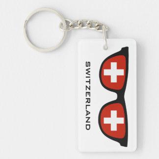 Switzerland Shades custom text & color key chain